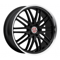 Victor LeMans 9,5x18 5/130 ET49 d-71 Gloss Black Mirror Cut Lip (1895VIL495130B71)