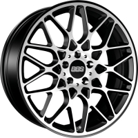 BBS RX301 8,5x19 5/120 ET32 d-82 Satin Black Diamond Cut (0362474#)