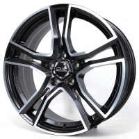 OZ Adrenalina 8,0x17 5/108 ET38 d-75 Matt Black Diamond Cut (W8501420154) d-L