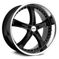 TSW Jarama 8,0x18 5/112 ET32 d-72 Gloss Black Mirror Cut Lip (1880JAR325112B72)