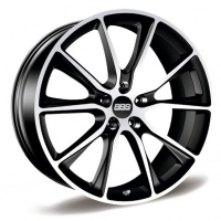 BBS SV006 10,0x20 5/130 ET40 d-71,6 Satin Black Diamond Cut (0561350#)