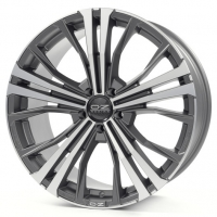 OZ Cortina 9,5x20 5/112 ET52 d-79 Matt Dark Graphite Diamond Cut (W0188320149) d-XL