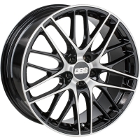 BBS CS029 7,5x17 5/112 ET46 d-57 Black Diamond Cut (0358519#)