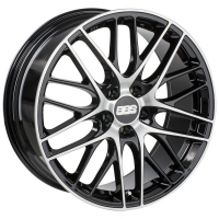 BBS CS015 7,5x17 5/100 ET35 d-70 Satin Black Diamond Cut (0358361#)