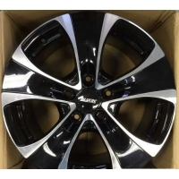 Alutec Dynamite 8,5x18 5/127 ET35 d-71,6 Diamond Black Front Polished (DY85835D73-1)