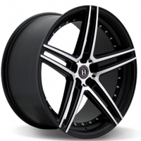 HARP Y-22 8x18/5x112 ET35 D66.6 Satin-Black__Machined-Face